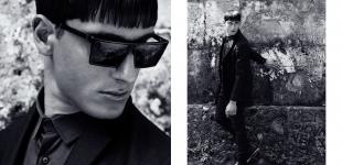 (L+R) jacket, shirt, trousers & belt Guiliano Fujiwara - shoes Calvin Klein - glasses Super