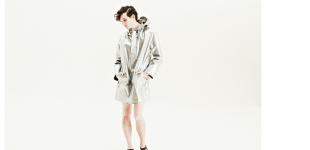 Silver jacket Soulland; shoes (worn throughout) stylist's own.