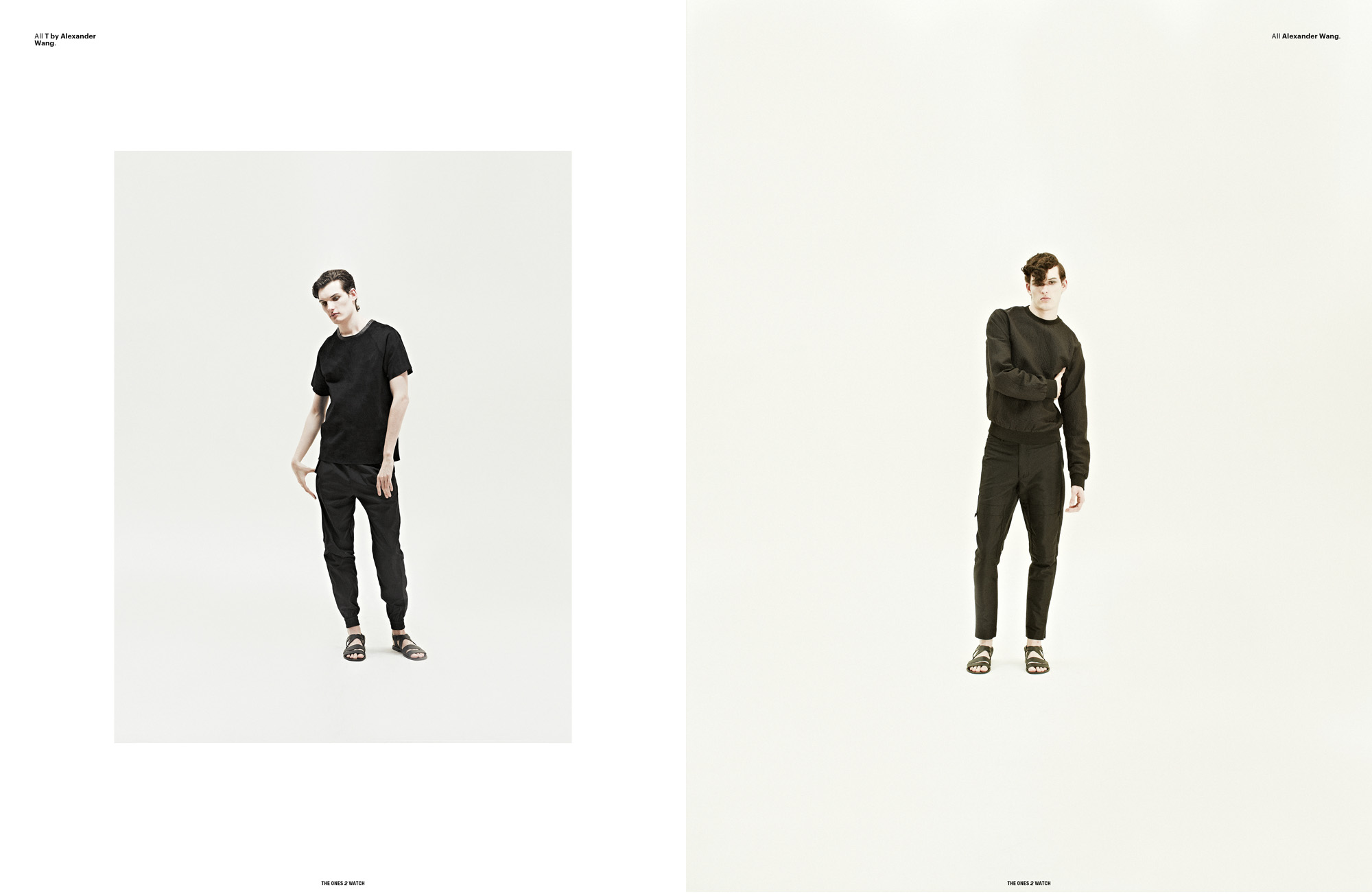 Left: All T by Alexander Wang. | Right: All Alexander Wang.