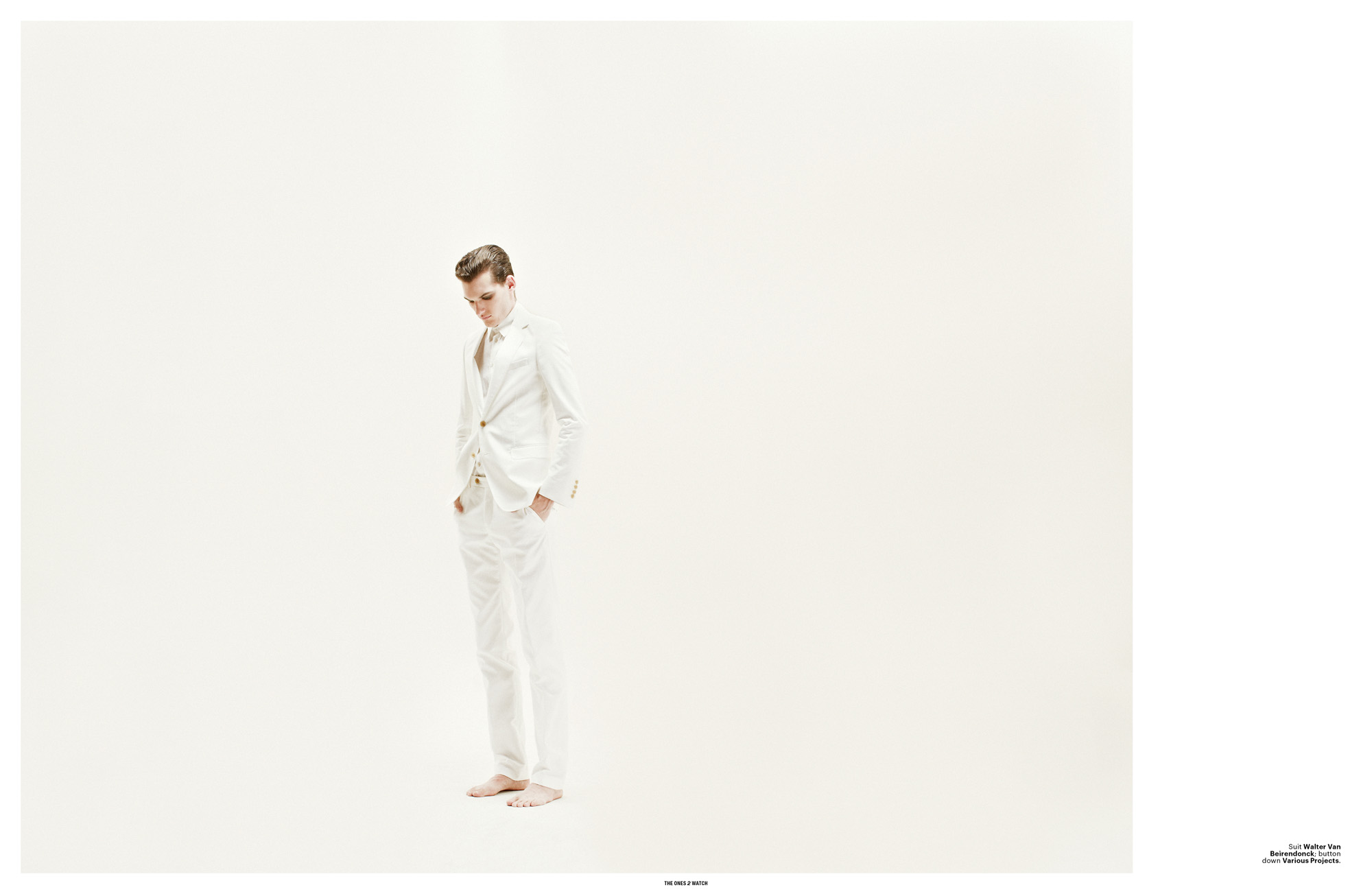 Suit Walter Van Beirendonck; button down Various Projects.