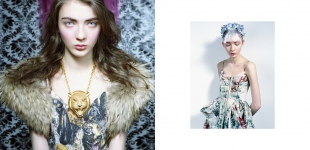 left: dress Twist&Tango - fur & necklace vintage. right: dress Twist&Tango - fur & necklace vintage