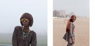 (L) necklace Iosselliani - knit Minimarket - sunglasses H&M. (R) jacket & skirt Eley Kishimoto - necklace Iosselliano - blouse Minimarket
