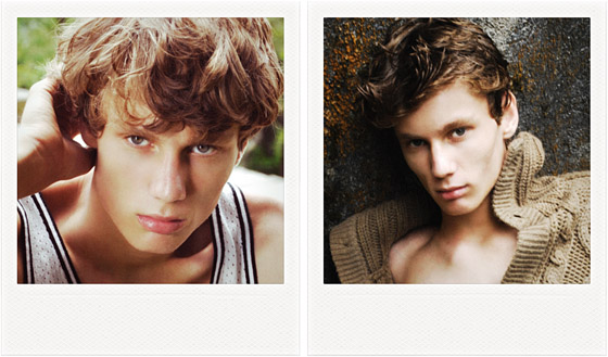 With his green eyes, tousled blond hair and great cheekbones,
