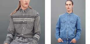 Left: shirt Acne via Sprmrkt, jeans Levi's via Zipper. Right: shirt Levi's via Bij Ons Vintage, jeans Levi's via Zipper.