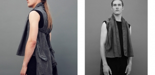 Left & Right: vest Julius via Sprmrkt, t-shirt Rick Owens via Sprmrkt.