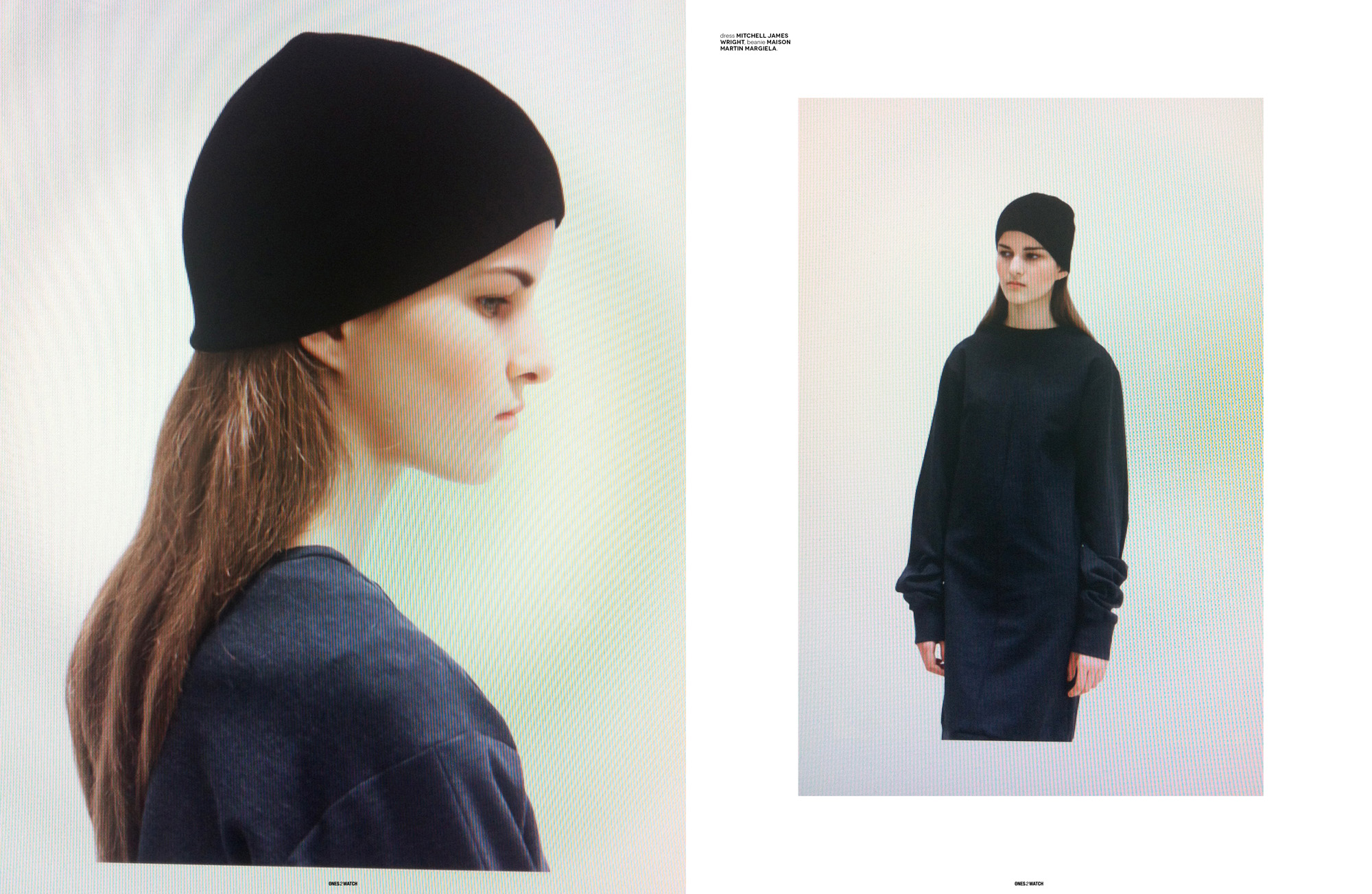 dress Mitchell James Wright, beanie Maison Martin Margiela.