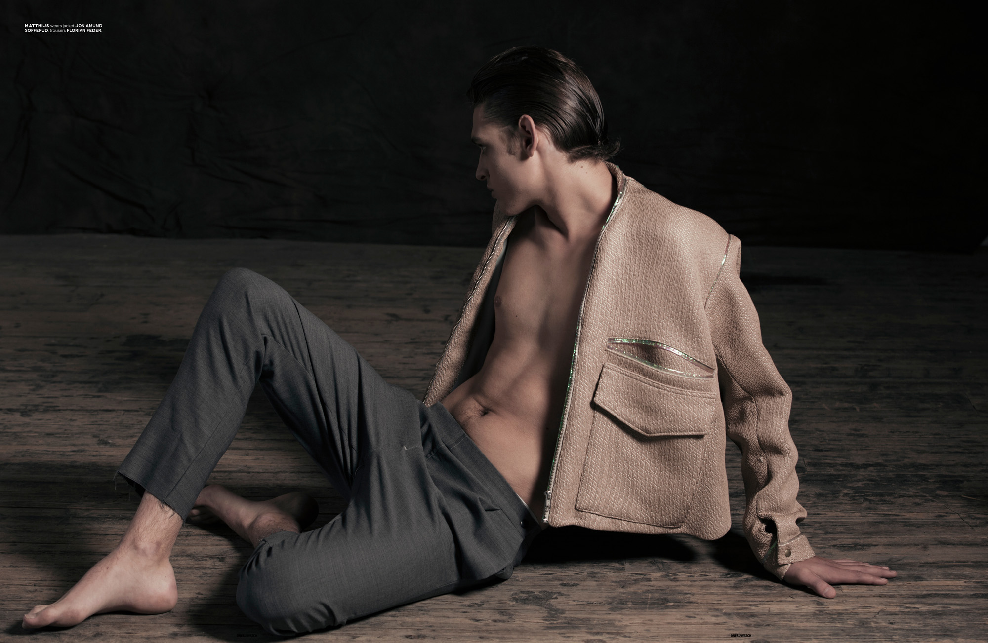 Matthijs wears jacket Jon Amund Sofferud, trousers Florian Feder.