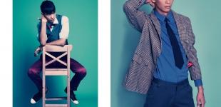 Left: shirt Calvin Klein - waistcoat & pants Topman - bowtie Christian Lacroix - shoes Converse. Right: shirt DKNY - tie Topman - coat BZR by Bruuns Bazaar - pants Iceberg