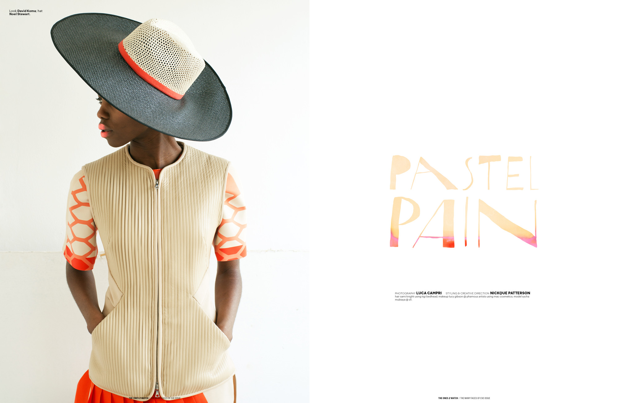Look David Koma; hat Noel Stewart.
