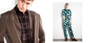 left: blazer Cristal for Paris Vintage - shirt Federation. right shirt & trousers Moschino - shoes Swear
