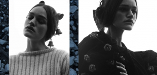 (L) cardigan Dotti's Vintage - horse bells stylist's own. (R) cardigan & bow stylist's own