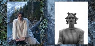 (L) dress & jacket stylist's own. (R) cardigan Dotti's Vintage - horse bells stylist's own