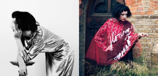 Left: Dress Melanie Anayiotos; gloves & ring from Atelier Mayer. | Right: Top & tulle cape Ciara Ip; skirt Melanie Anayiotos.